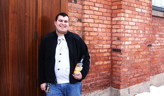 Jason Barrett, Head Distiller and President of Black Button Distillery