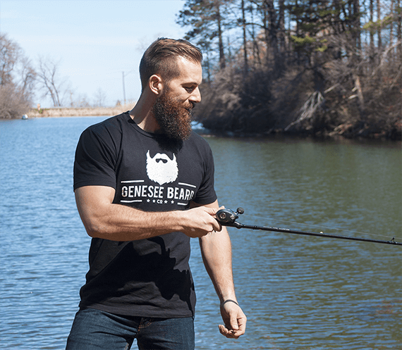 Dave Meleca of Genesee Beard Co. loves fishin' and supporting local ROC businesses.