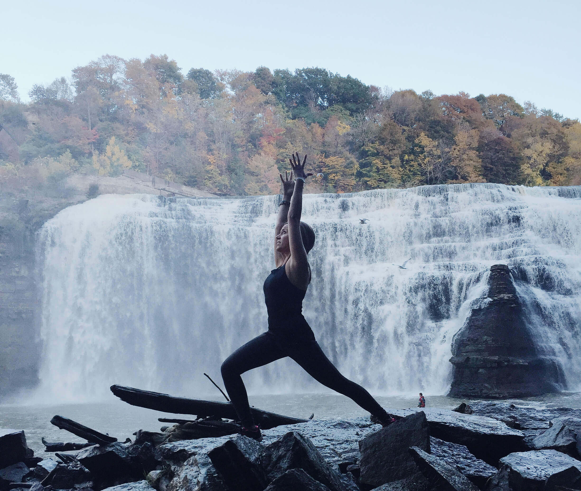 Yoga girl and adventurer Nicole Kazimer has the best memories during snowstorms.