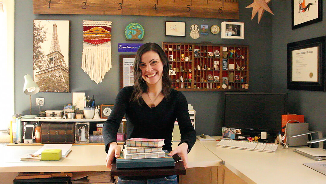 Bookbinder and artist Rachael Gootnick loves reading and learning about other people's stories.