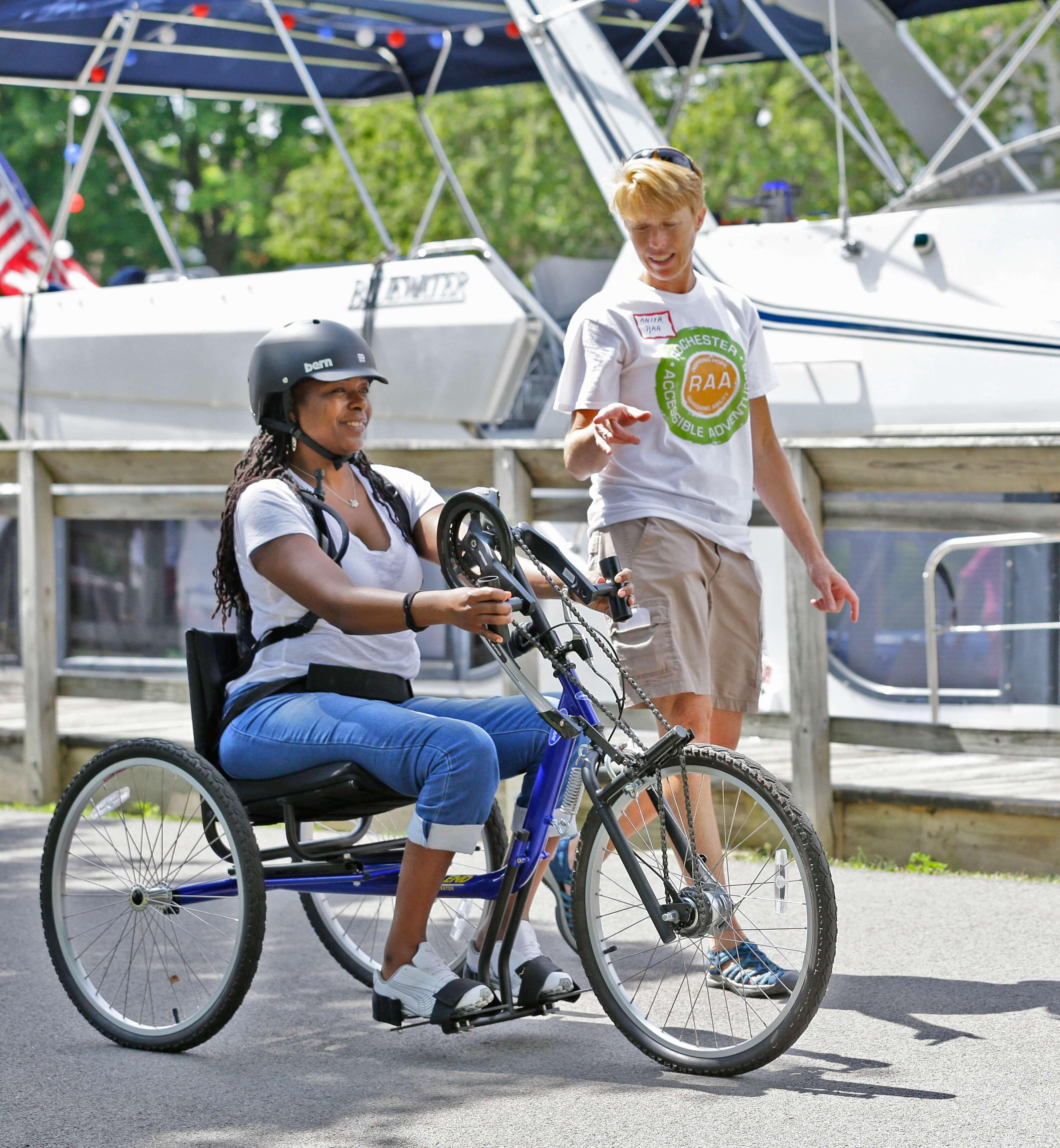 3 - biking woman